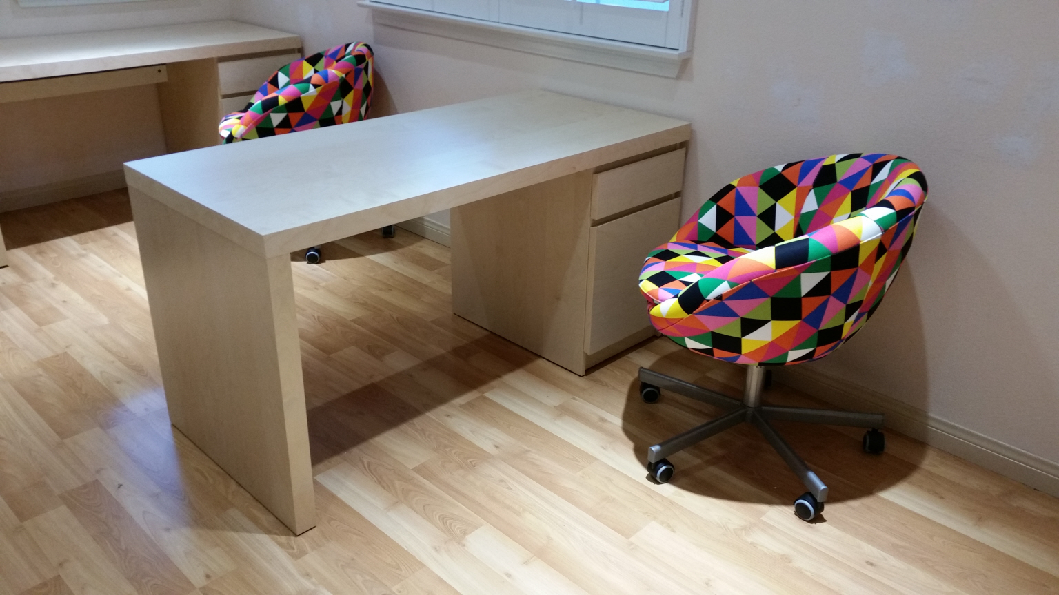 Malm Desk with Chair