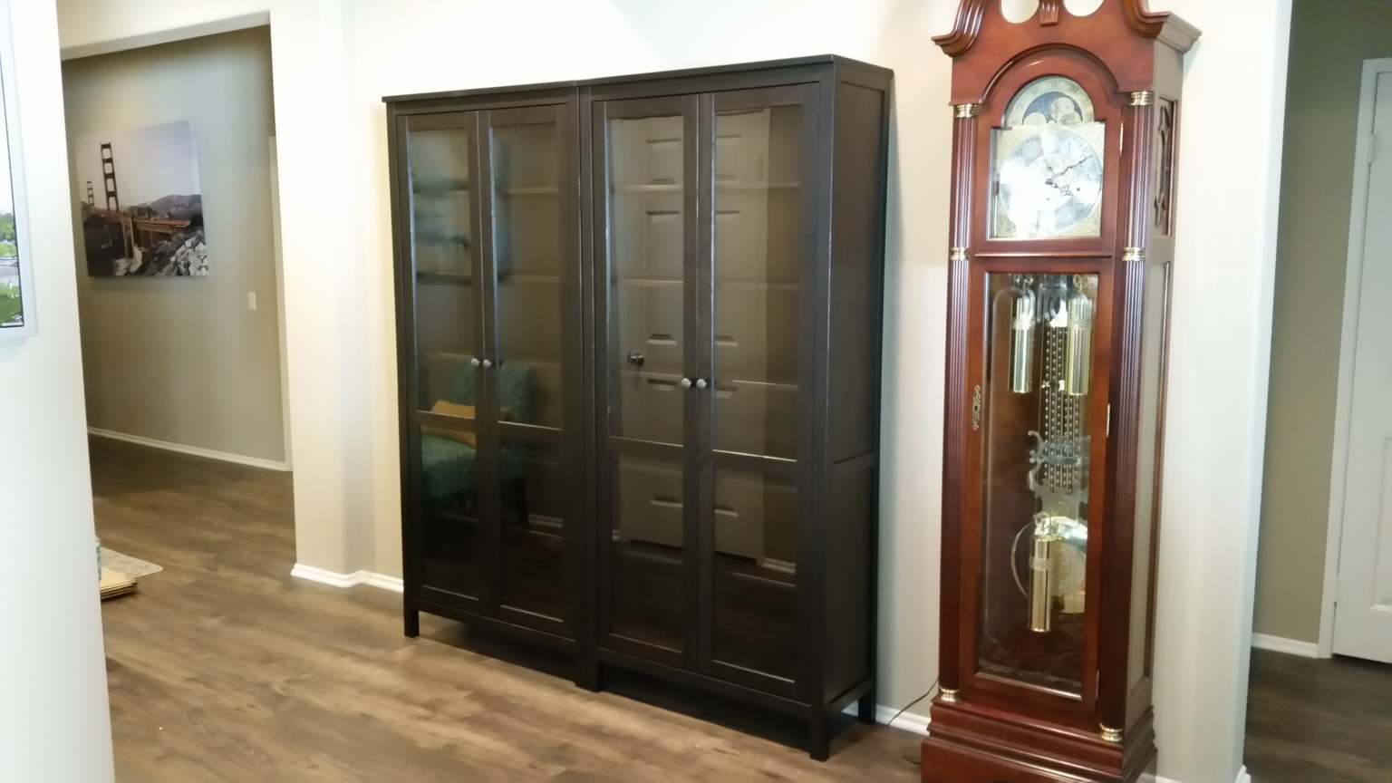 Hemnes Bookcases with Glass Doors