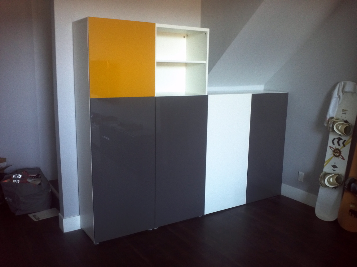 Besta Storage System with Doors