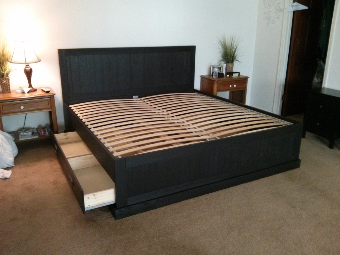 Bedframe with Storage