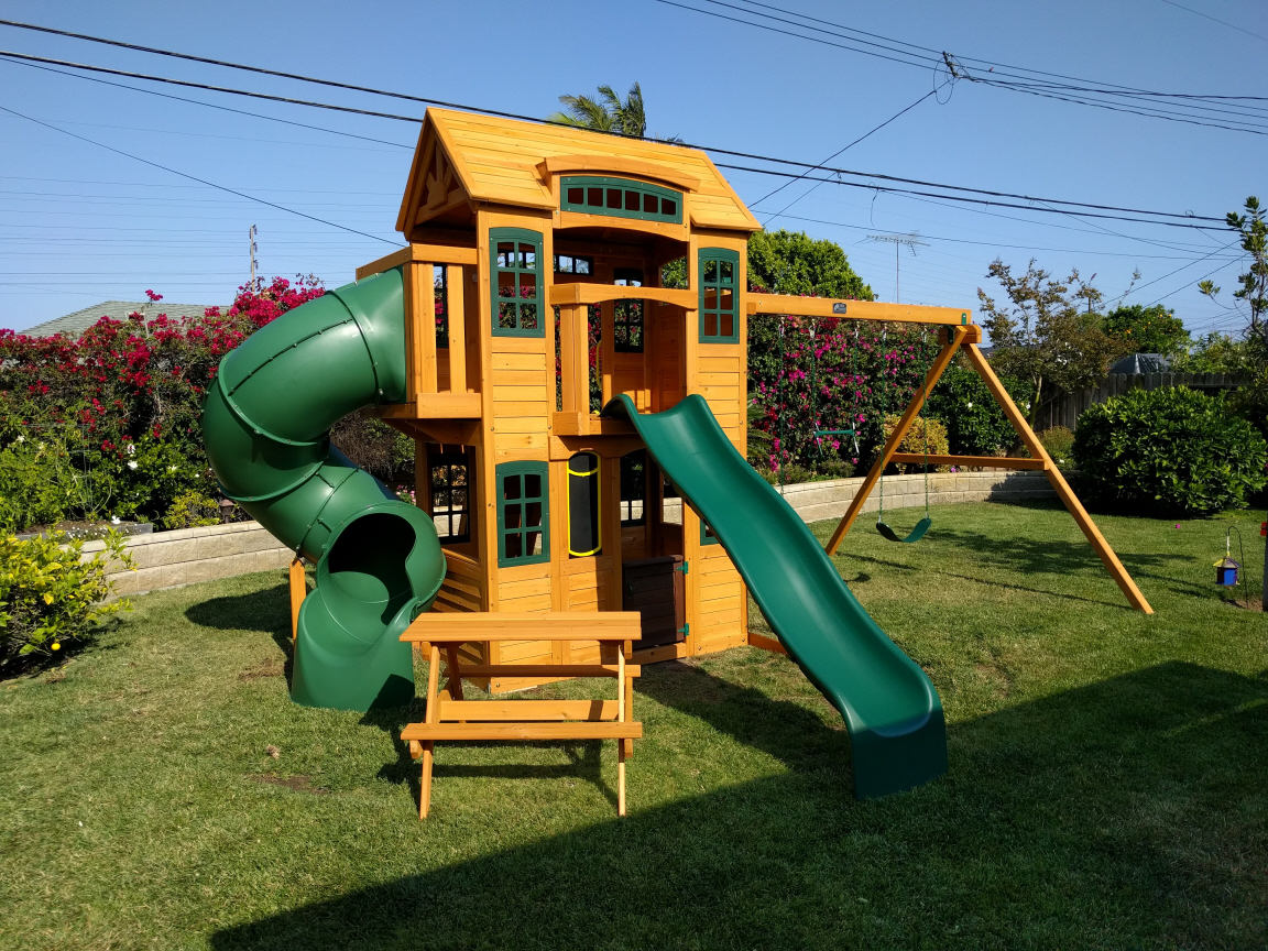 Cedar Summit Weston Lodge Swing Set